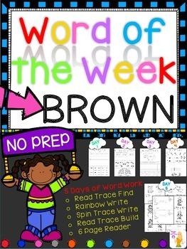 WORD OF THE WEEK - BROWN