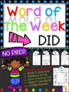 WORD OF THE WEEK - DID