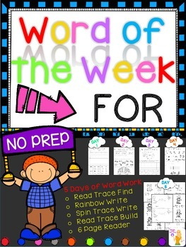WORD OF THE WEEK - FOR