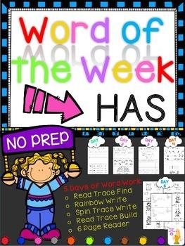 WORD OF THE WEEK - HAS