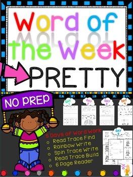 WORD OF THE WEEK - PRETTY