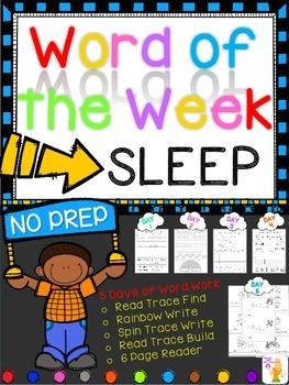 WORD OF THE WEEK - SLEEP
