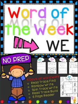 WORD OF THE WEEK - WE