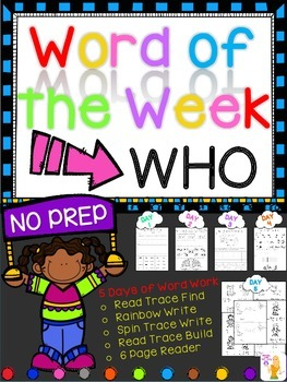 WORD OF THE WEEK - WHO