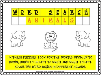 WORD SEARCH - ANIMALS