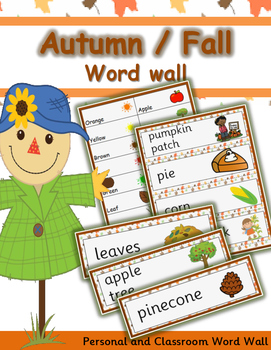 WORD WALL - AUTUMN/FALL [ Approx. 50 WORDS]