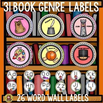 WORD WALL LABELS: BOOK GENRE LABELS