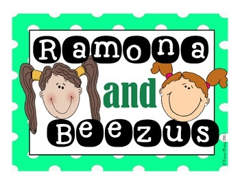 WORD WORK CENTERS: BEEZUS AND RAMONA