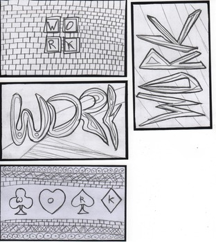 WORK  - Index Cards for coloring and writing on the back.