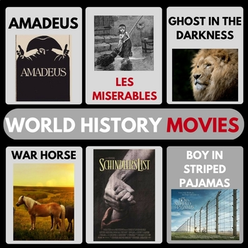 WORLD HISTORY MOVIE GUIDES FULL YEAR WAR HORSE SCHINDLERS