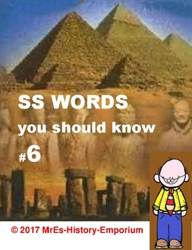 WORLD HISTORY  Words You Should Know #6