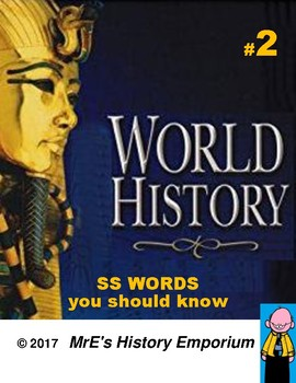 WORLD HISTORY  Words you should know #2