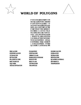 WORLD OF POLYGONS WORD SEARCH