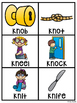 WR KN GN (Silent Letters) Pocket Chart Centers and Materials