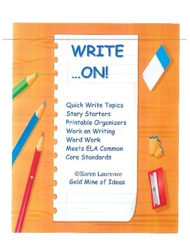 WRITE ON! printables, graphic organizers, writing, word wo