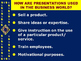 """WRITING EFFECTIVE PRESENTATIONS IN THE WORKPLACE (PPT) """"De"""