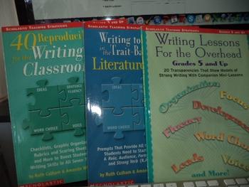 WRITING LESSON  LITERATURE RE  WRITING TRAI( SET OF 3)