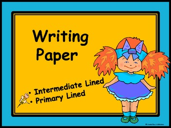 WRITING PAPER: Great for any writing activity!