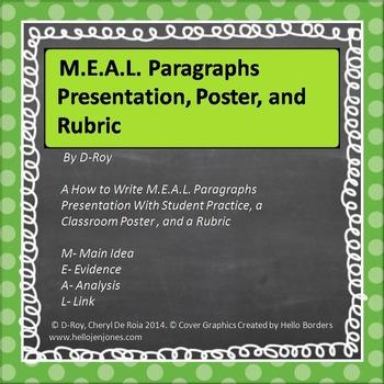 WRITING PARAGRAPHS- A Formula to Paragraph Writing- M.E.A.