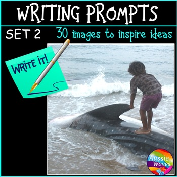WRITING PROMPTS Task Cards IMAGES to Stimulate ideas SET 2