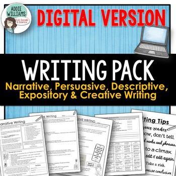 WRITING- Persuasive, Narrative, Expository & Descriptive W