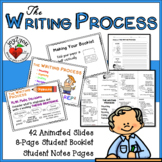 THE WRITING PROCESS - Animated PowerPoint, Student Notes P