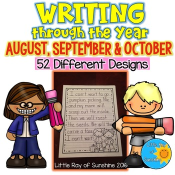 WRITING through the Year (Aug, Sept, Oct).