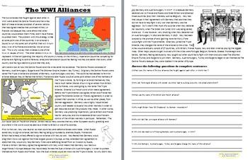 WWI Alliances 2 Day Lesson