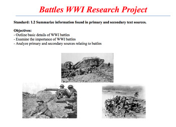 WWI Battles Source Analysis Booklet Project(Website QR Cod