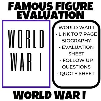 WWI Famous Figure Evaluation