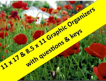 WWI Graphic Organizers:   11 x 17 & 8.5 x 11 with question