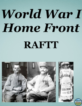 WWI Home Front RAFTT Writing Assignment