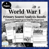 WWI Primary Source Analysis BUNDLED Set World War One 1