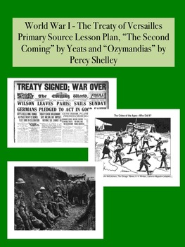 WWI - Treaty of Versailles Primary Source Worksheet & Poet