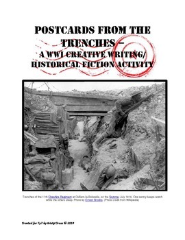 "WWI Writing/History Activity ~ ""Postcards From the Trenche"