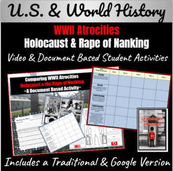 WWII Atrocities: Holocaust and Rape of Nanking Document-Ba