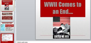 WWII Comes to an End PowerPoint