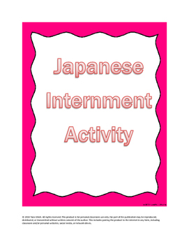 WWII Japanese Internment Activity