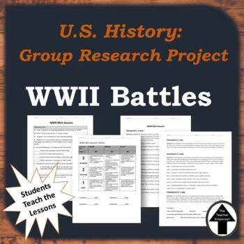 WWII Performance Task Group Project Mini Lessons WWII Batt