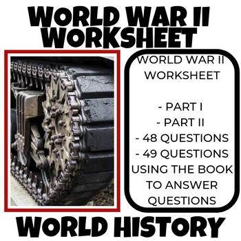World War II Worksheet 1939-1945 World History
