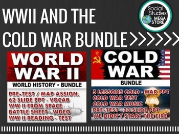 WWII WORLD WAR  II, HOLOCAUST, COLD WAR, READING AND WRITI
