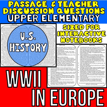 WWII - World War Two: Reading Passage & Teacher Discussion