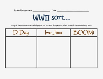 WWII sort