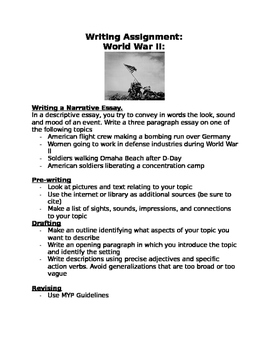 WWII writing assignment: Women, bombing of Japan, walking