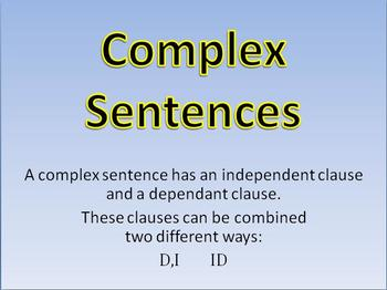 WWW7 Teaching and Practice: Complex Sentences