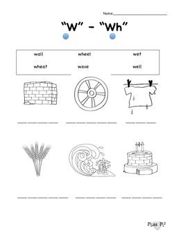 W/Wh Sound Worksheet