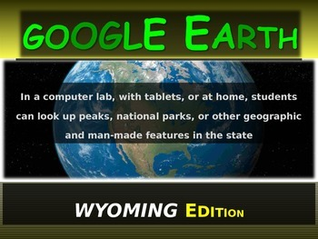 """""""WYOMING"""" GOOGLE EARTH Engaging Geography Assignment (PPT"""
