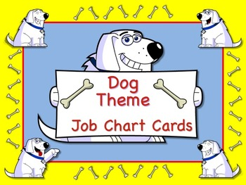 Wacky Dog Theme Job Chart Cards / Signs - Great for Classr