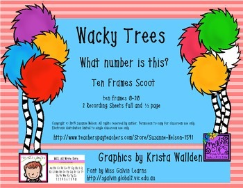 Wacky Trees What Number Is This? Ten Frames Scoot