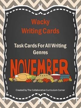 Wacky Writing Cards: November
